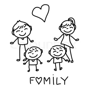 11169041-hand-drawing-cartoon-happy-family